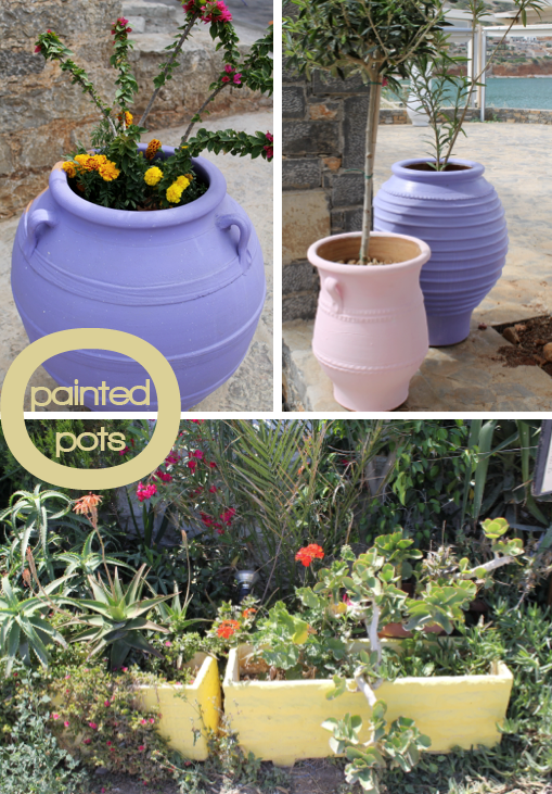 Painted pots - by  Joanna Thornhill for Stylist's Own Blog