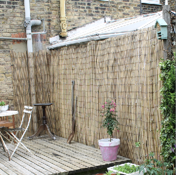 Bamboo Fencing Garden Makeover by Joanna Thornhill for Stylist's Own