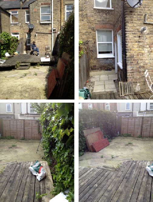 Before Shots2 Garden Makeover by Joanna Thornhill for Stylist's Own