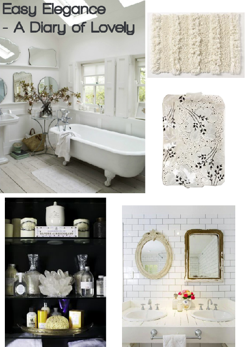 Easy Elegance Bathroom Board by A Diary of Lovely, compiled by Joanna Thornhill for Stylist's Own