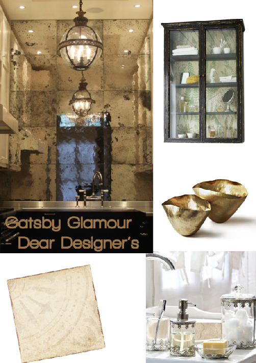 Gatsby Glamour Bathroom Board by Dear Designers, compiled by Joanna Thornhill for Stylist's Own