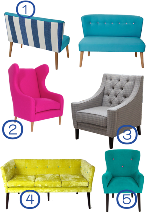 Darlings of Chelsea Sofas and Chairs by Joanna Thornhill for Stylist's Own Blog
