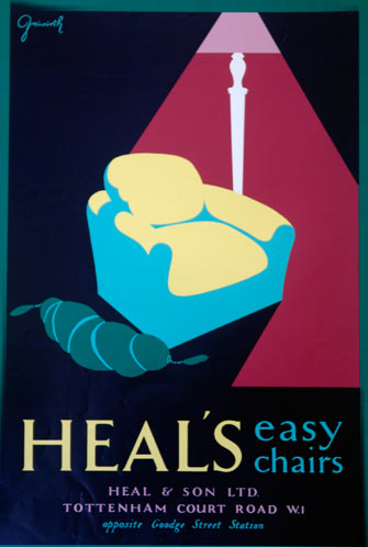 Vintage Heal's Easy Chairs poster