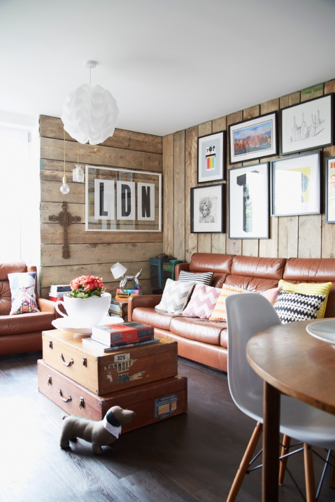Tom Chalet's Living Room, as featured in Home for Now by Joanna Thornhill