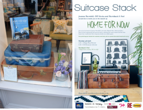 3. The Windows Suitcase Stact Launch Party Opening Shots Home for Now book by Joanna Thornhill, as seen on Stylist's Own blog
