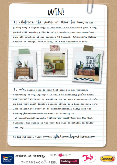 Competition blog graphic Home for Now by Joanna Thornhill