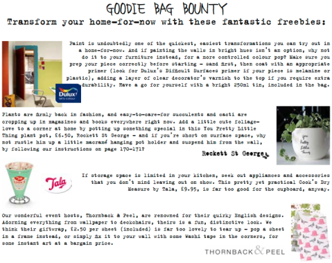 Goodie Bag Bounty Home for Now Joanna Thornhill pt1