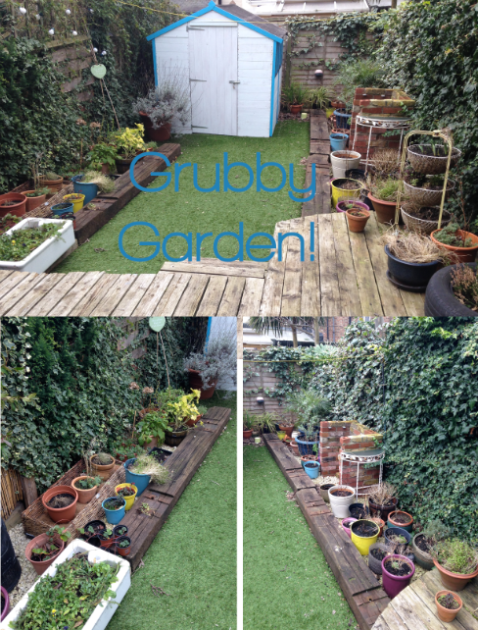 Grubby Garden Before shot, as seen on Stylist's Own Blog by Joanna Thornhill