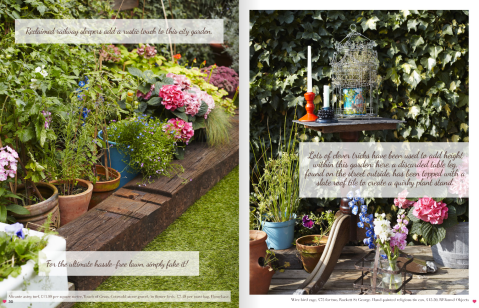 Garden Fakeover feature by Joanna Thornhill p30-31, Heart Home July14