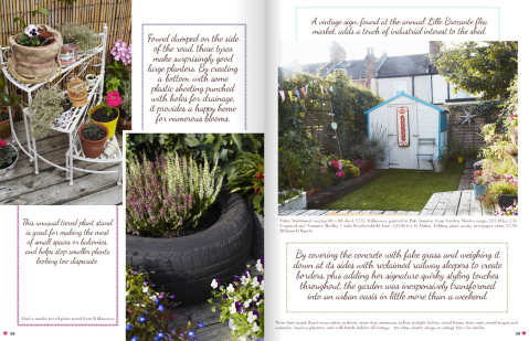 Garden Fakeover feature by Joanna Thornhill p38-39, Heart Home July14