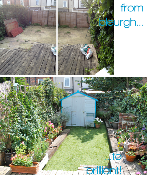 Garden Makeover Before & After by Joanna Thornhill for Stylist's Own - back