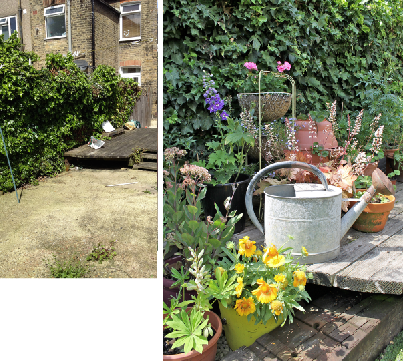 Garden Makeover Before & After by Joanna Thornhill for Stylist's Own - decking detail