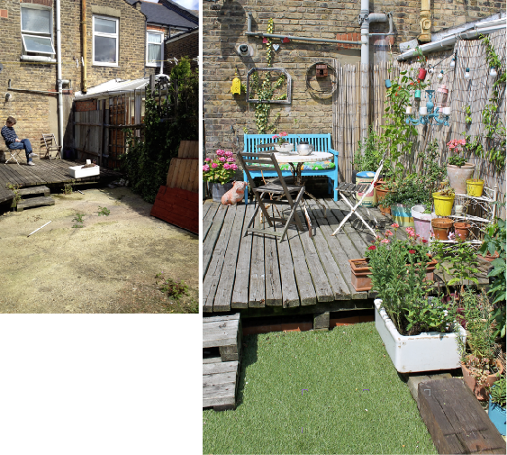 Garden makeover before after by joanna thornhill for for Garden makeover
