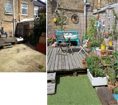 Garden Makeover Before & After by Joanna Thornhill for Stylist's Own - decking