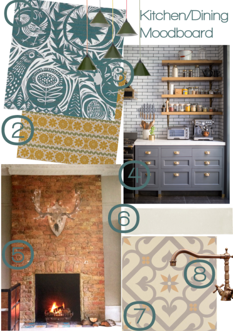 Kitchen Dining Moodboard Joanna Thornhill for Stylist's Own
