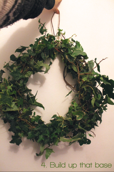4. Build up that base Wreathmaking DIY by Joanna Thornhill for Stylist's Own