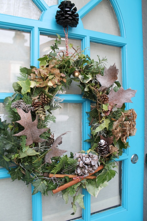 Finished door wreath DIY by Joanna Thornhill for Stylist's Own